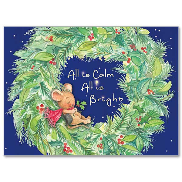 All Is Calm All Is Bright Christmas Spirit Card