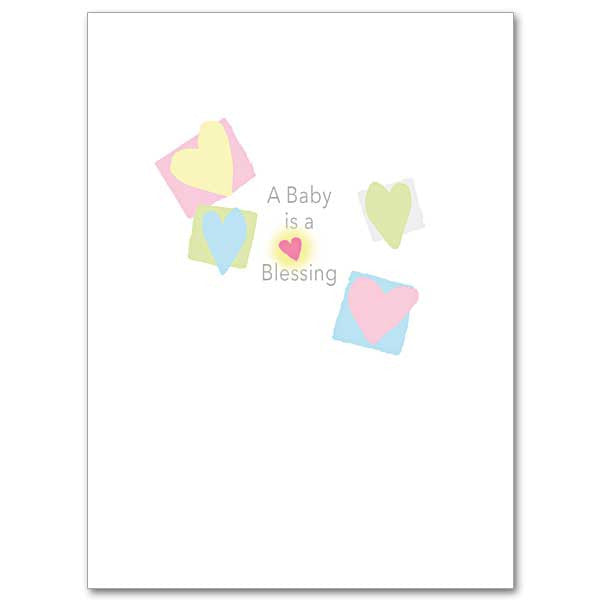 A Baby Is a Blessing Baby Congratulations Card