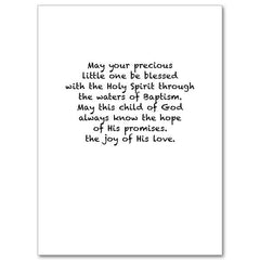 Blessings on Your Child's Baptism: Baptism Card