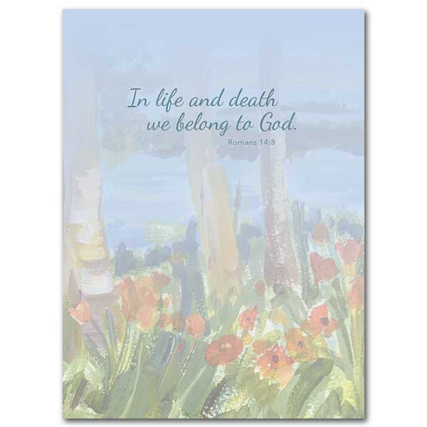 Although We Are So Very Sad New Celebration of Life Sympathy Card