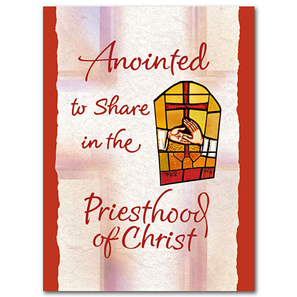 Anointed To Share... Priest Ordination Card