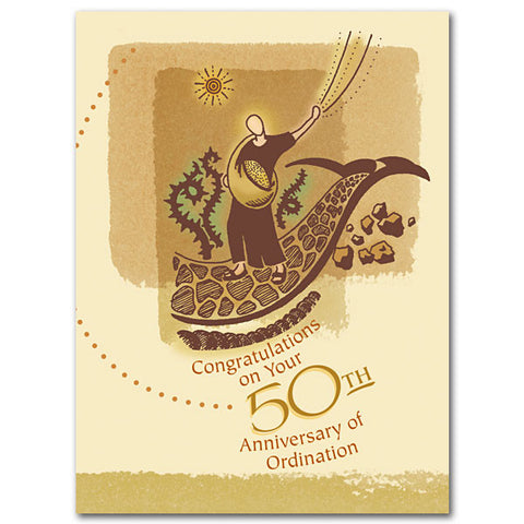 Congratulatons On Your 50Th... Priesthood Anniversary Card