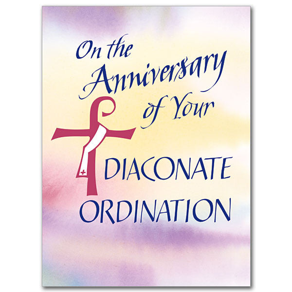 On The Anniversary Of... Deacon Anniversary Card