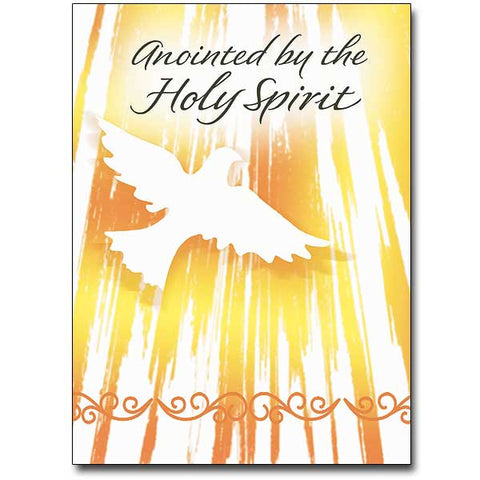 Anointed By The Holy Spirit Confirmation Card