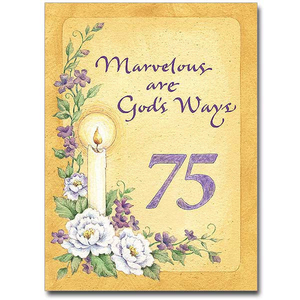 Marvelous Are God'S Ways 75Th Religious Prof Ann Card