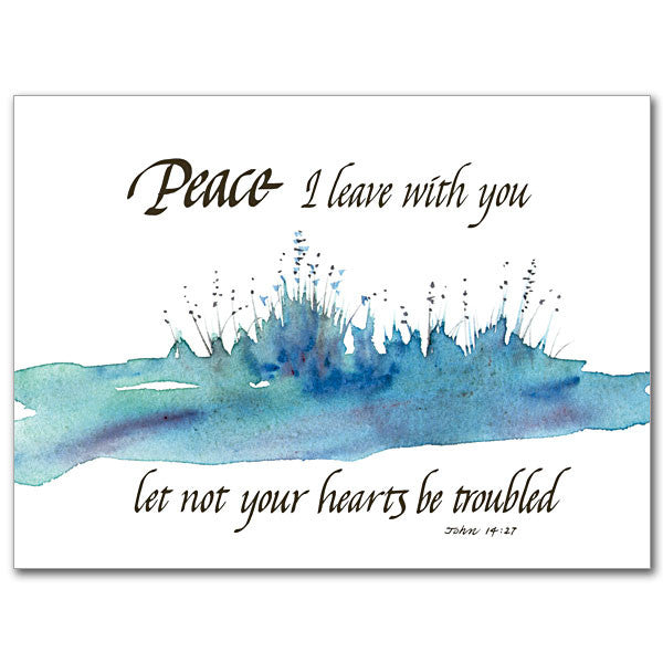 Peace I Leave With You Sympathy Card