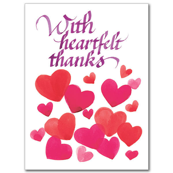 With Heartfelt Thanks Thank You Card