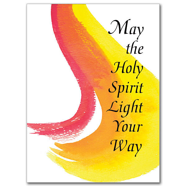 May The Holy Spirit Light Confirmation Card
