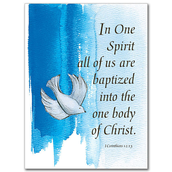 In One Spirit All Of Us... Baptism (Child) Card