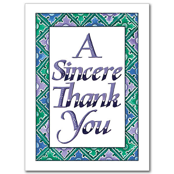 A Sincere Thank You Thank You Card