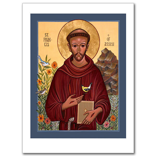 Saint Francis of Assisi Icon Greeting Card