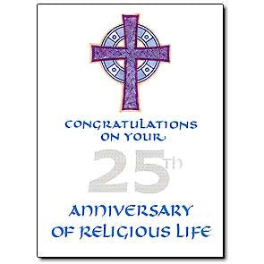 25th Anniversary Religious Card
