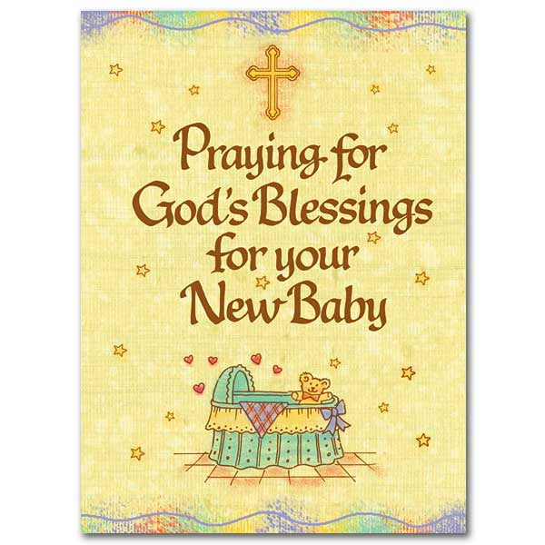 Praying For God'S Blessings Baby Congratulations Card