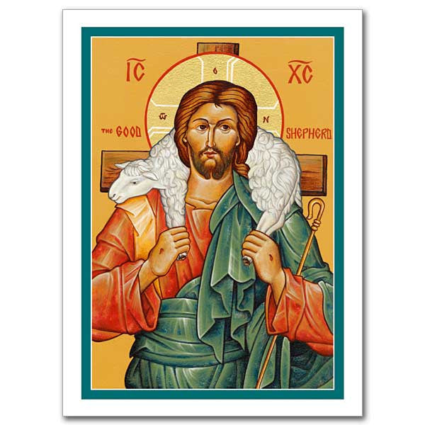 The Good Shepherd Icon Greeting Card
