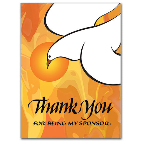 Thank You For Being My Sponsor Sponsor Thank You Card