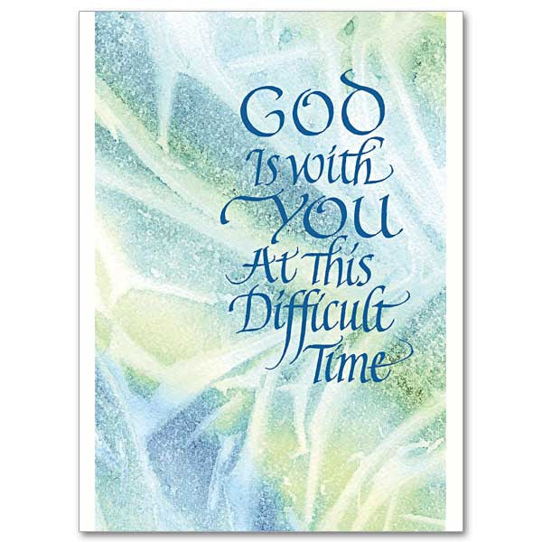 God Is With You At This... Sympathy Card