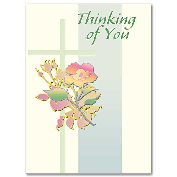 Thinking Of You (Green Cross) Thinking Of You Card