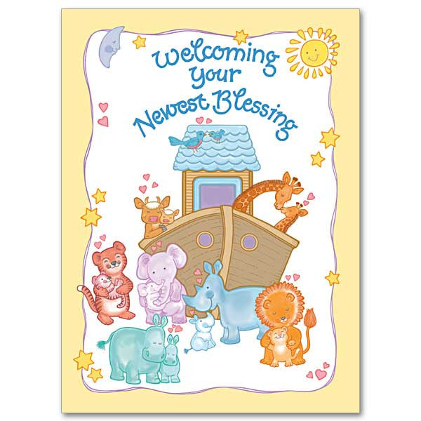 Welcoming Your Newest Blessing Baby Congratulations Card