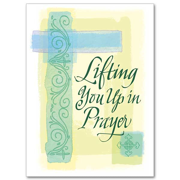 Lifting You Up In Prayer Encouragement/Praying Card