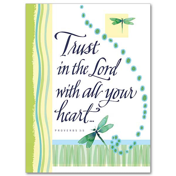 Trust In The Lord Encouragement/Praying Card