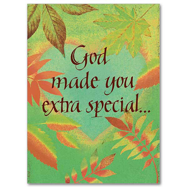 God Made You Extra Special Birthday Card