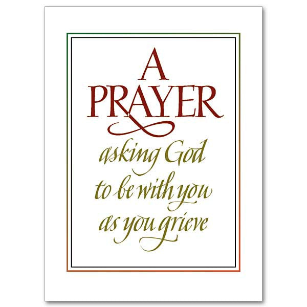 A Prayer Asking God Sympathy Card