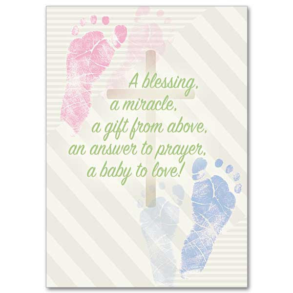 A Blessing, a Miracle Baby Congratulations Card