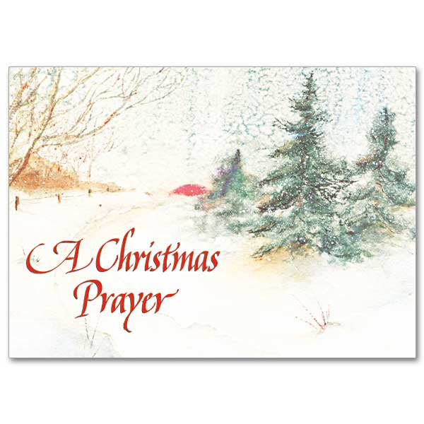 A Christmas Prayer:  Card for a difficult Christmas