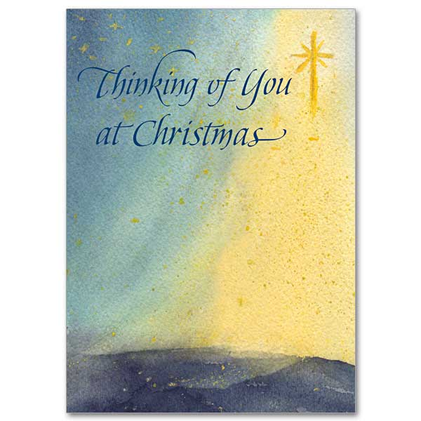 thinking of you at christmas card for a difficult christmas