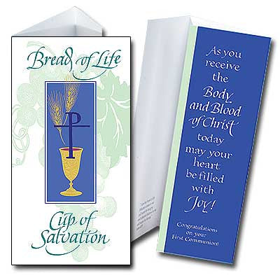 Bread Of Life Cup Of Salvation 1St Communion Money Holder