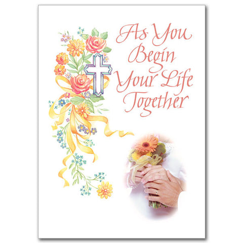 As You Begin Your Life... Wedding Congratulations Card