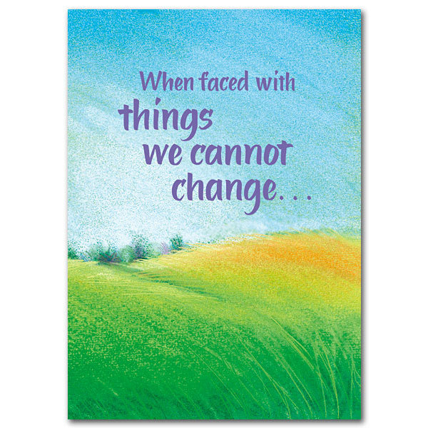 When Faced With Things... Message Of Hope Card