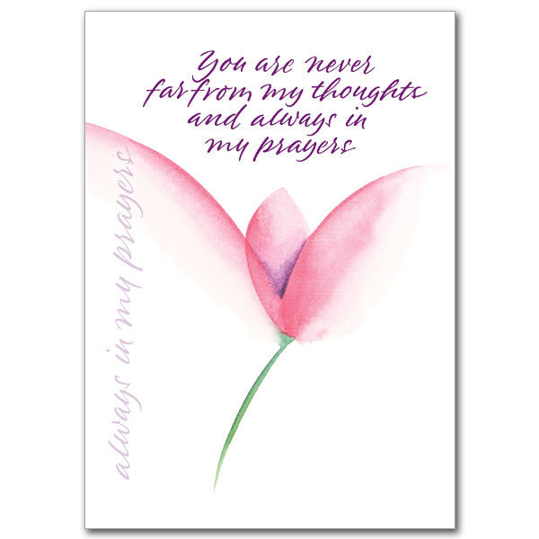 You Are Never Far From... Praying For You Card