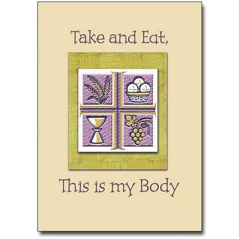 Take And Eat, This Is... First Communion Card