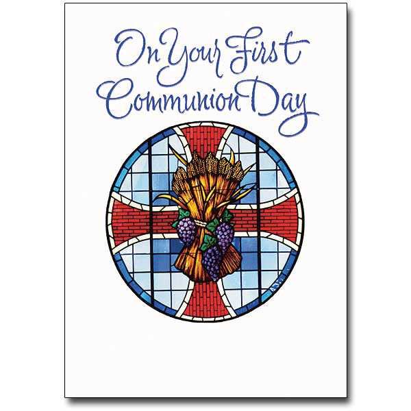 On Your First Communion... First Communion Card