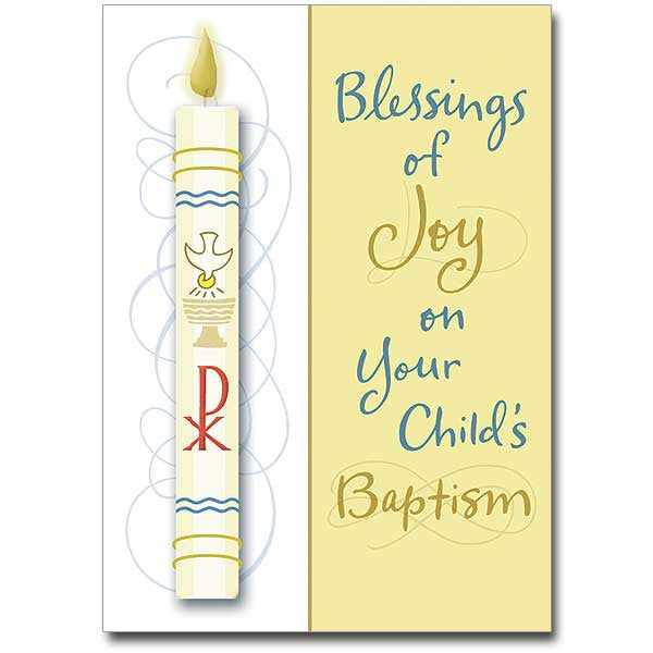 Blessings Of Joy... Child Baptism Card