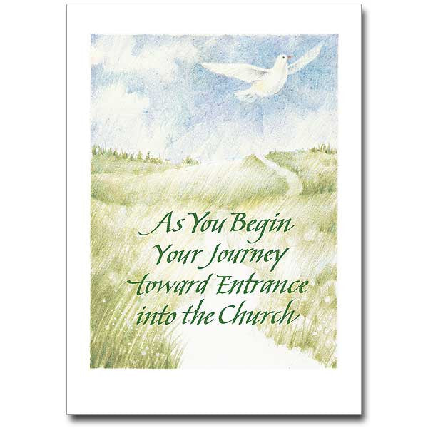 As You Begin Your Journey... Rcia Entrance Card