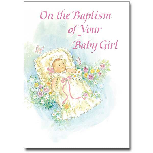 on the baptism of your baby girl baptism card