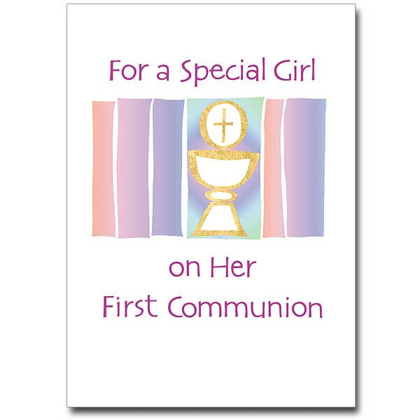 For A Special Girl...Communion First Communion Card