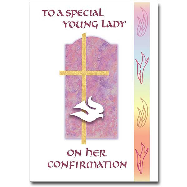 To A Special Young Lady Confirmation Card