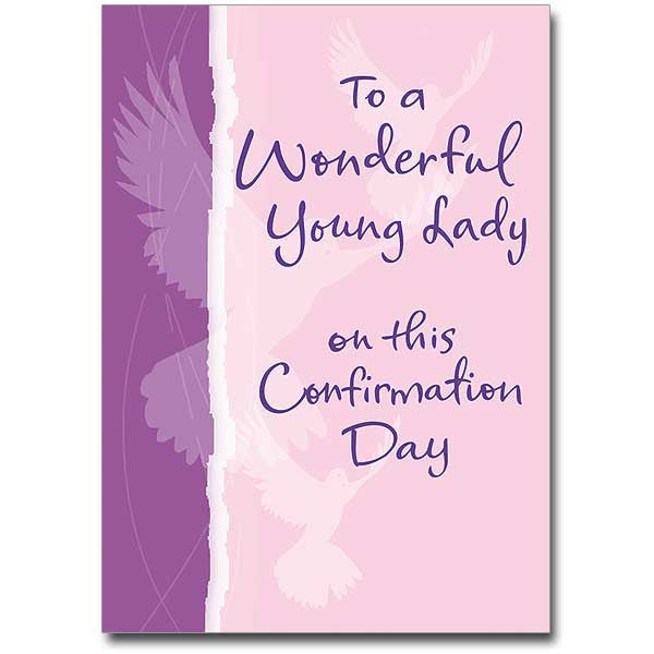 To A Wonderful Young Lady Confirmation Card
