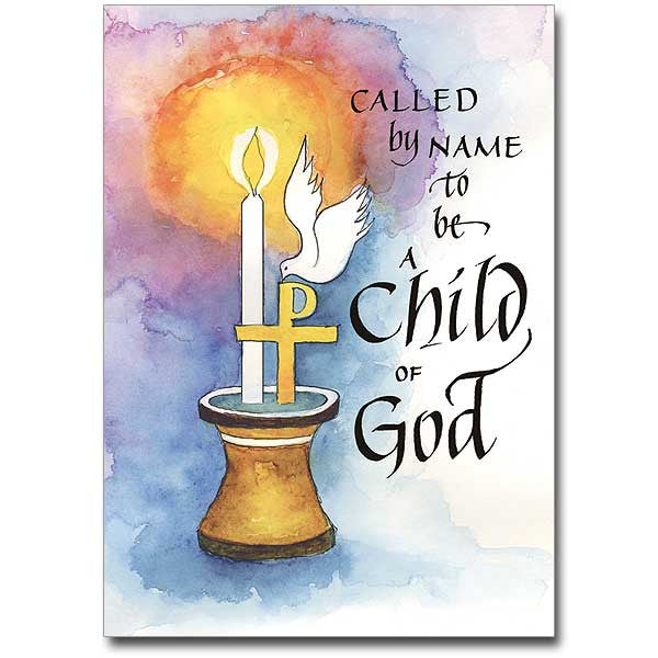 Called By Name... Baptism Card