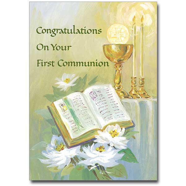 Congratulations... First Communion Card
