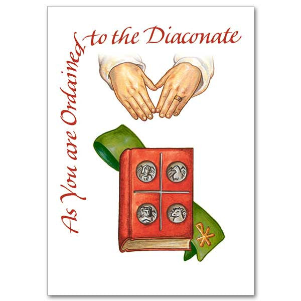 As You Are Ordained... Deacon Ordination Card