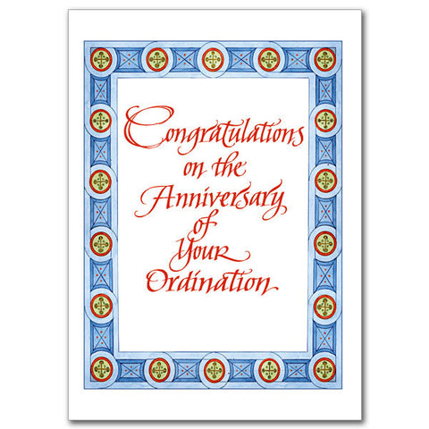 Congratulations On The Anniversary Ordination Anniversary Card
