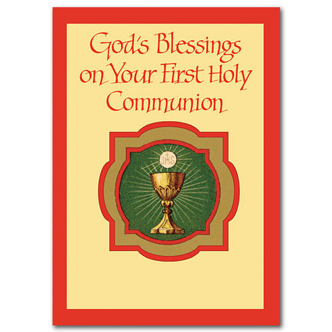 God's Blessing On Your First... First Communion Card