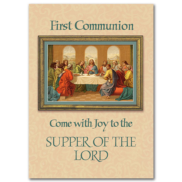 Come With Joy To The Supper First Communion Card