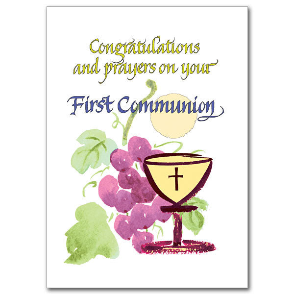 Congratulations And Prayers First Communion Card