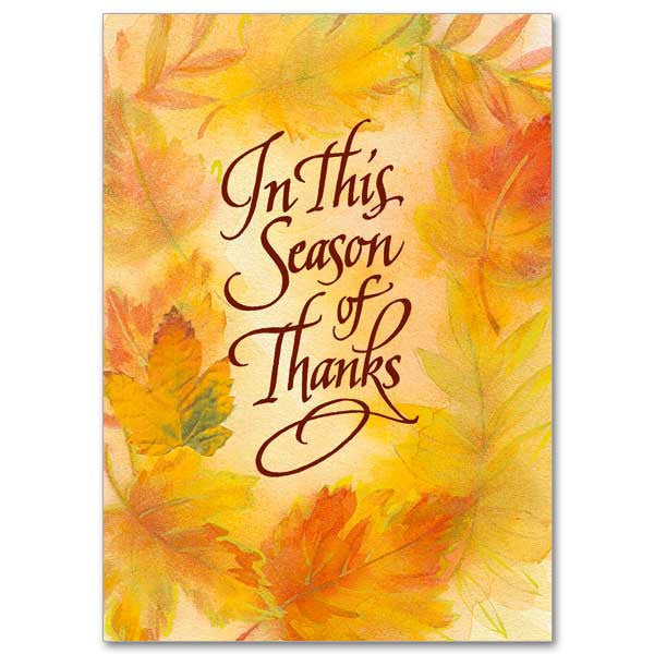 In This Season Of Thanks Thanksgiving Card