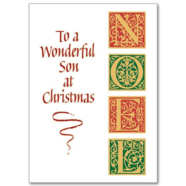 To A Wonderful Son At Christmas Christmas Card